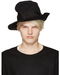 Мужская черная шерстяная шляпа от Attachment