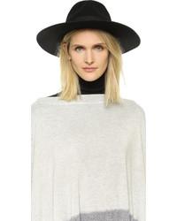 Женская черная шерстяная шляпа от Brixton