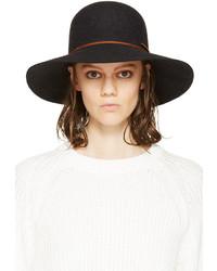 Женская черная шерстяная шляпа от Rag and Bone
