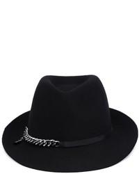 Женская черная шерстяная шляпа от Stella McCartney