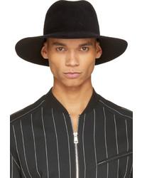 Мужская черная шерстяная шляпа от Undercover