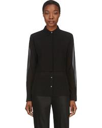 Женская черная шифоновая классическая рубашка от Alexander Wang