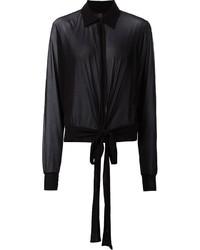 Женская черная шифоновая классическая рубашка от Jean Paul Gaultier