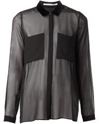 Женская черная шифоновая классическая рубашка от Schumacher