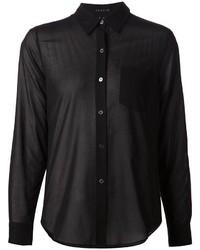 Женская черная шифоновая классическая рубашка от Theory