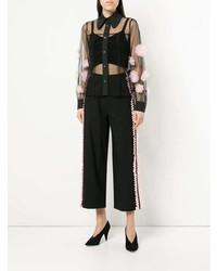 Женская черная шифоновая классическая рубашка от Tu Es Mon Trésor