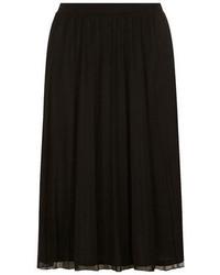 Черная шифоновая юбка-миди