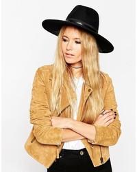 Женская черная шляпа от Asos