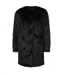 Женская черная шуба от Topshop