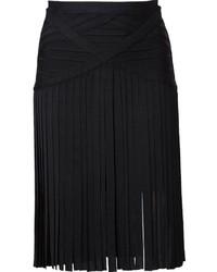 95668e6307e Купить черную юбку-карандаш c бахромой - модные модели юбок-карандаш ...