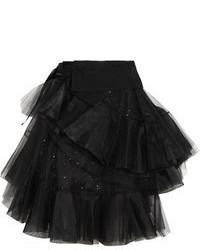 098abc9baa5 ... Черная юбка-миди из фатина со складками от Junya Watanabe