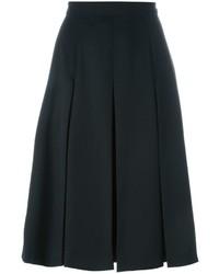 Черная юбка-миди со складками от Alexander McQueen