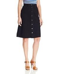 Женская черная юбка на пуговицах от Lucky Brand