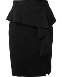 Черная юбка с баской от Emilio Pucci