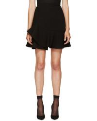 Черная юбка-трапеция от Alexander McQueen