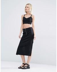 Черная юбка от Weekday