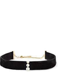 Черное бархатное ожерелье-чокер