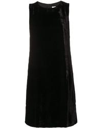 Женское черное бархатное платье прямого кроя от M Missoni