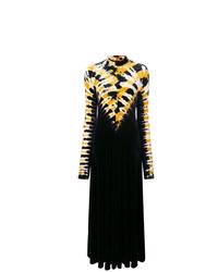 Черное вечернее платье с принтом тай-дай