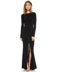 Женское черное вечернее платье с разрезом от Rachel Zoe