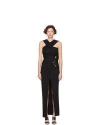 Черное вечернее платье от Versace