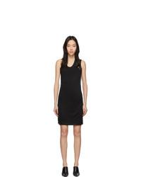 Черное вязаное платье-майка от Helmut Lang