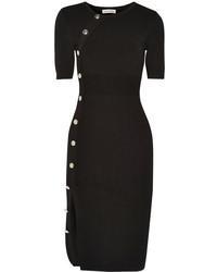 Женское черное вязаное платье-свитер от Altuzarra