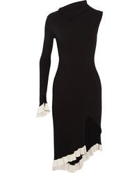 Женское черное вязаное платье-футляр от Esteban Cortazar