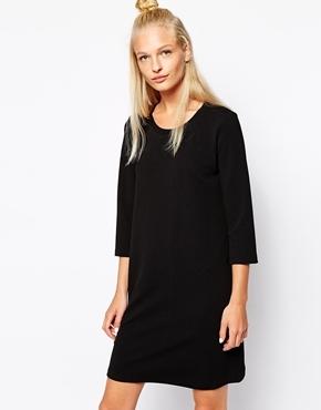 99a394baca3 ... Черное вязаное повседневное платье ...