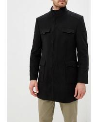 Черное длинное пальто от Absolutex