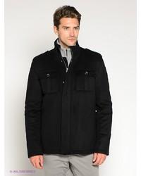 Мужское черное длинное пальто от Al Franco