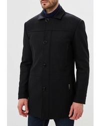 Черное длинное пальто от Bazioni
