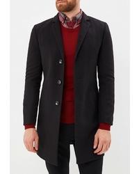 Черное длинное пальто от Berkytt
