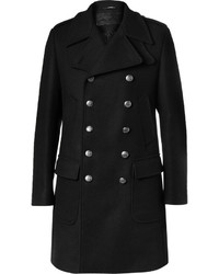 Мужское черное длинное пальто от Dolce & Gabbana