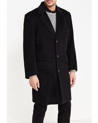 Черное длинное пальто от Marcello Gotti