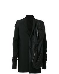 Черное длинное пальто от Rick Owens