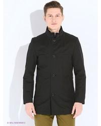 Мужское черное длинное пальто от s.Oliver