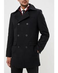 Черное длинное пальто от Sainy