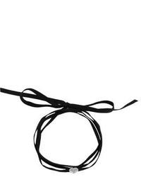Черное замшевое колье