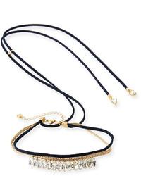 Черное замшевое ожерелье-чокер