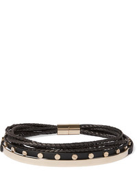 Женское черное кожаное ожерелье-чокер от Givenchy