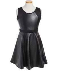 Кожаное платье для девочки