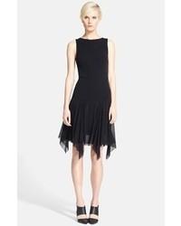Черное коктейльное платье из фатина
