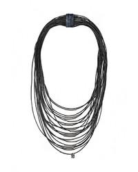 Женское черное колье от Fiorella Rubino