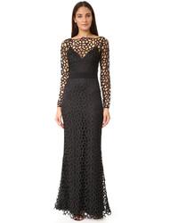 Женское черное кружевное вечернее платье от Camilla And Marc