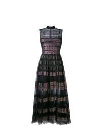 Женское черное кружевное вечернее платье от Christopher Kane