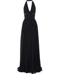Женское черное кружевное вечернее платье от Elie Saab