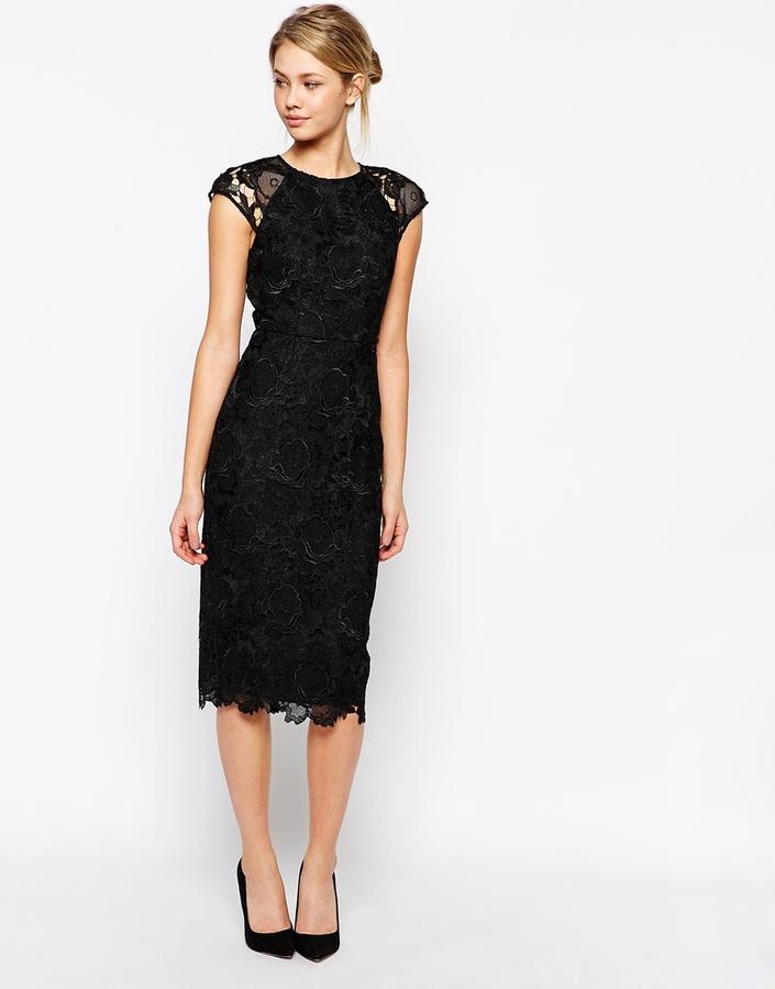 f03d7e418c96 17 385 руб., Черное кружевное облегающее платье от Ted Baker
