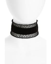 Черное кружевное ожерелье-чокер