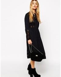 8a4f7afd799 ... Женское черное кружевное платье-миди от Asos ...